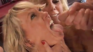 Three MILFs are enjoying hardcore fuck