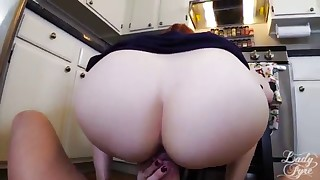 Seduced redhead MILF fucked by a long dick