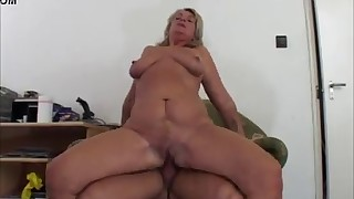 Awesome blonde MILF fucked by a big dick